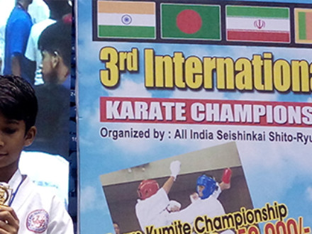 Wins Gold Medal In The Karate Championship