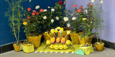 Flower show hosted by Indus Valley World School