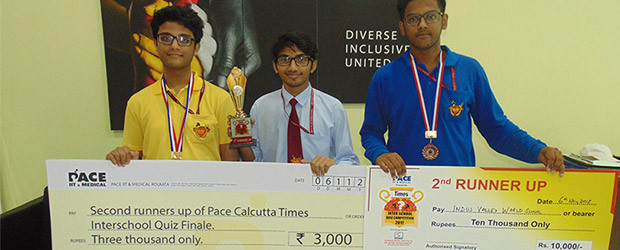 IVWS Excels At The Calcutta Times Inter School Quiz Contest