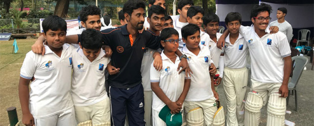 IVWS defeated St Xaviers by 6 wickets scoring 249 for 2. Md Kazi Shapno of IVWS scored a record breaking tally of 128 runs of 45 balls at the SLOBA-ST LAWRENCE High School