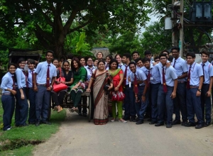 Visit to a tribal school in sandeshkhali