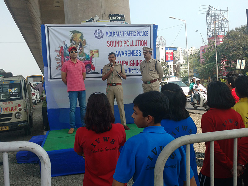 IVWS Participates In The Rally Organised By Kolkata Traffic Police