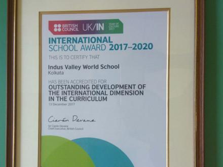 IVWS Wins Internation School Award 2017-2020