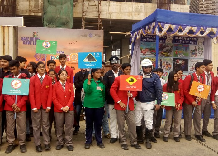 Road Safety week inauguration at Indus Valley World School Auditorium on January 8th