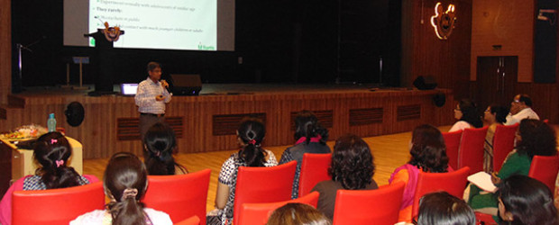 March 17, 2018- IVWS saw renowned psychiatrist Dr. Sanjay Garg conduct an extremely intense and effective workshop on Child Safety and Security for the faculty members