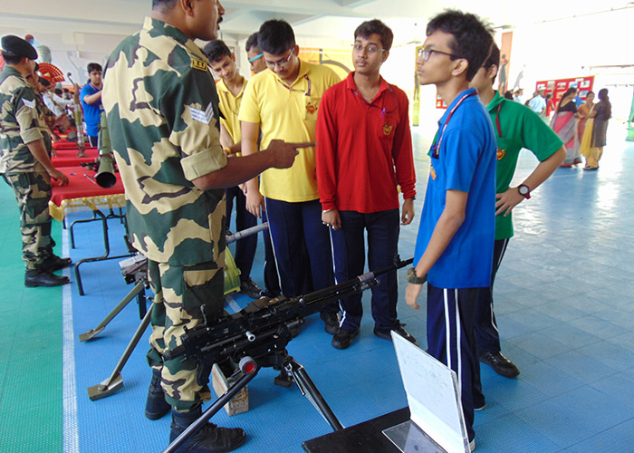 BSF Arms Display On The School Campus