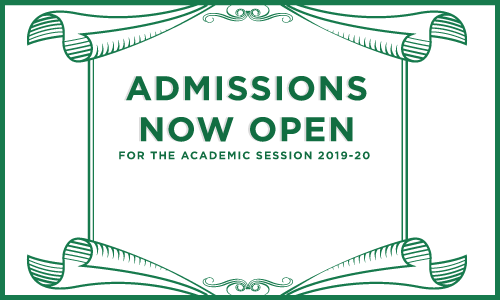 admissions now open