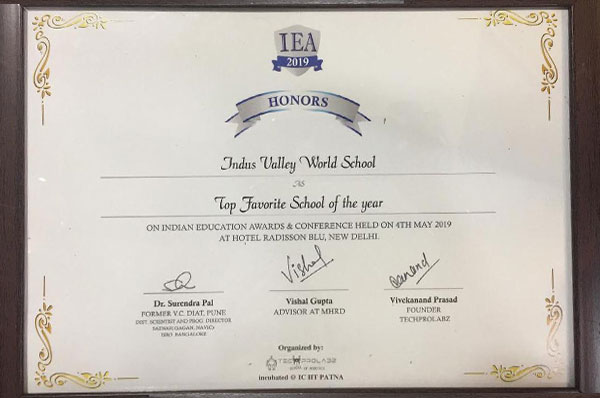 Indian Education Award 2019